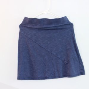 Horny Toad Blue Cotton Mini Skirt Size S